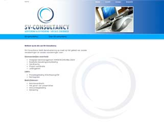 Dynamische website SV Consultancy
